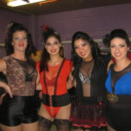 Gals of the Burlesque rotuine for the Melbourne Latin festival