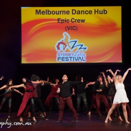 """during the Epic Crew """"Worlds COllide"""" routine for the Sydney Latin Festival"""