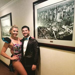 Nathan & Brooke post performance at the New York Salsa Congress 2015