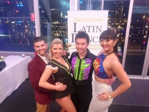 Nathan & Rachel, Willwin & Brooke at the Australian Latin Dance Championships 2015